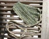 Crochet Landscape Green Headband with Ties
