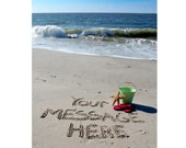 Say it in the Sand-High Resolution Digital Image-FREE SHIPPING
