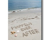 Happily Ever After Beach Writing 8x10 Print