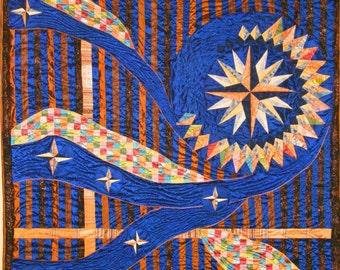 Modern Quilt Art Spiral Star