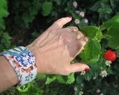 Embellished Fabric Cuff Bracelet
