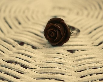 Cappuccino Rose Flower ring