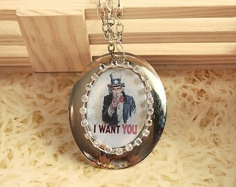 I WANT YOU (Uncle Sam) Necklace