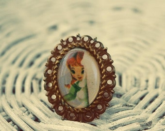 Hide and Seek vintage doll ring