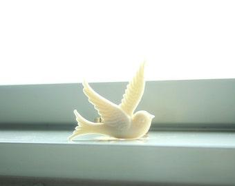 Cream white dove ring