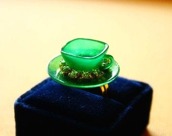 Wicked witch teacup ring