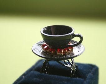 Twilight teacup ring