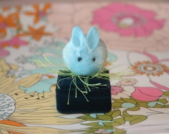 Pom Pom Bunny Alice In Wonderland on a grass ring (pick your choice)