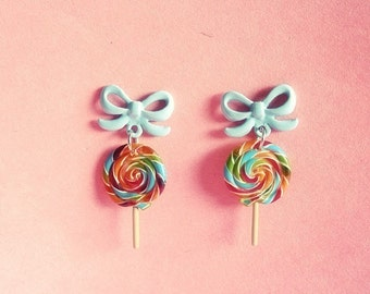I want Lollipop candy. A day at the carnival earrings