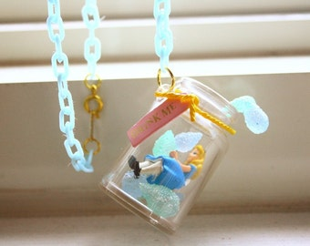 Drink me bottle Alice in Wonderland necklace