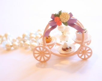Cinderella Carriage with cake platters necklace