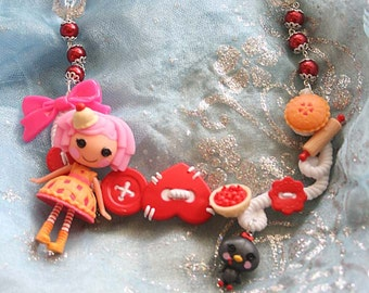 Lalaloopsy Cherry Pie Doll necklace