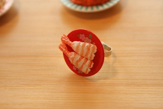 Shrimp/Ebi nigiri sushi ring