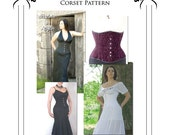 Victorian Underbust Corset paper Sewing Pattern Extra Large (UBPXL)