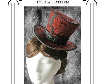 Buckram 3/4 Top Hat Millinery Sewing Pattern (3/4BHP)