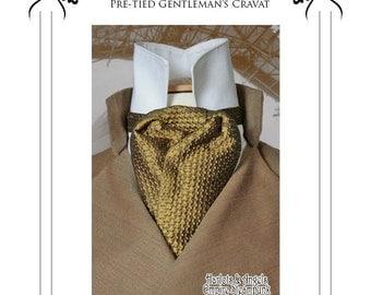Victorian Steampunk Cravat sewing pattern (CRP)