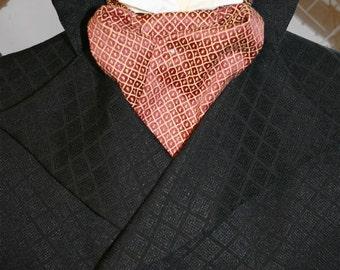 Sumptuous Victorian Steampunk Cravat pre-tied CRV96