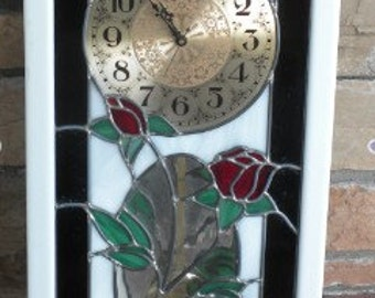 Stained glass clock Sale