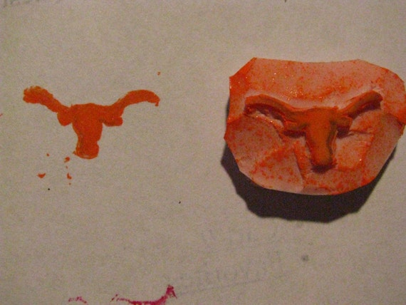 Texas Longhorn Rubber Stamp