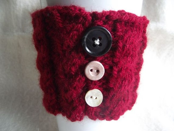 Red Coffee Cozie