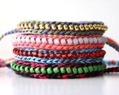 Custom Listing, Double Strand Beaded Friendship Bracelet