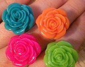 FREE SHIPPING Pretty Bright Pick-Me-Up Rose Adjustable Ring (Choose One Only)