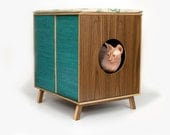 Mid Century Modern Cat Furniture & Litter Box Cover  - Medium