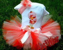Custom Strawberry Shortcake Birthday Shirt + Tutu Outfit (any age)