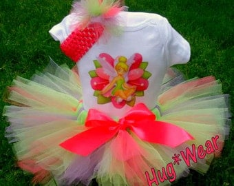 Custom Tinkerbell Birthday Shirt + Tutu Outfit (any age)