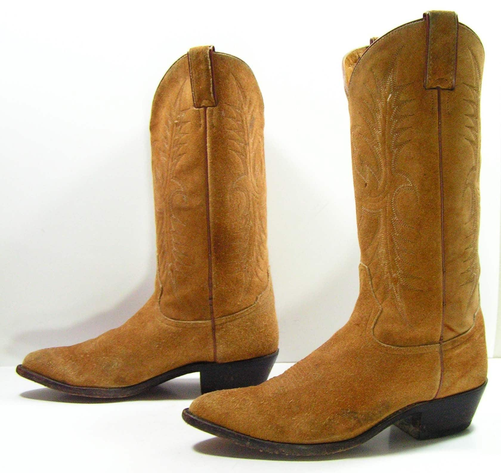 cowboy boots womens 10 m brown suede western mens 8 5