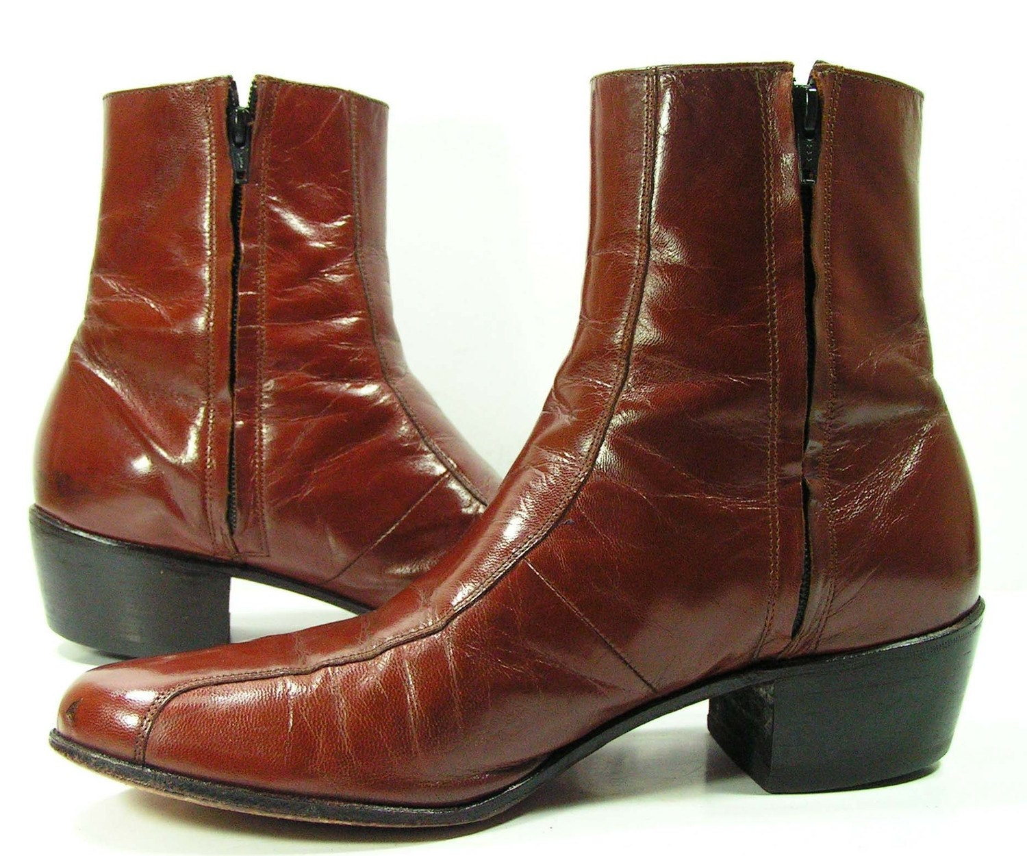 Wonderful Vintage Beatle Boots Womens 8 Crimson Hipster Goth Italian