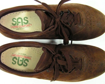 SAS FREE TIME shoes womens 9 M B brown walking casual comfort suede leather