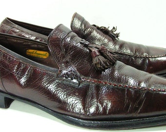 florsheim royal imperial dress shoes mens 11 D loafers brown 1970s
