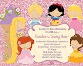 Princess Invitation Disney Inspired-Digital File