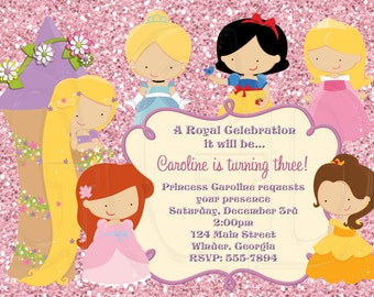 Princess Invitation Disney Inspired-Digital File