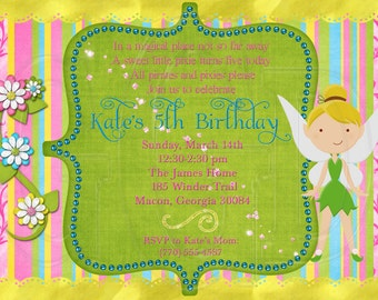 Tinkerbell Invitation- Digital Invite Printable