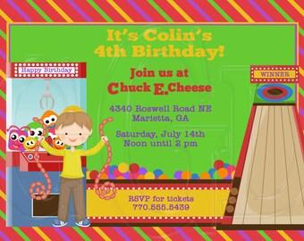 Arcade Invitation Birthday -Digital File