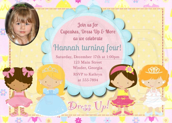 Dress Up Invitation Birthday Party-Digital File