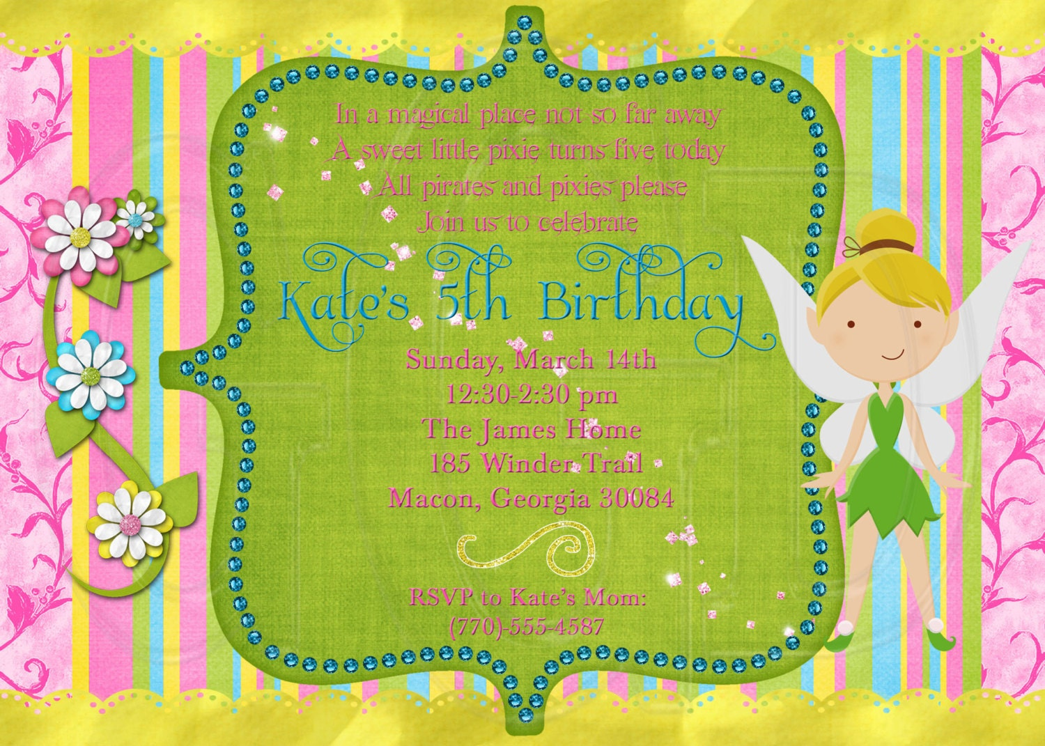 tinkerbell invitation digital invite printable tinkerbell invitation digital invite printable 128270zoom