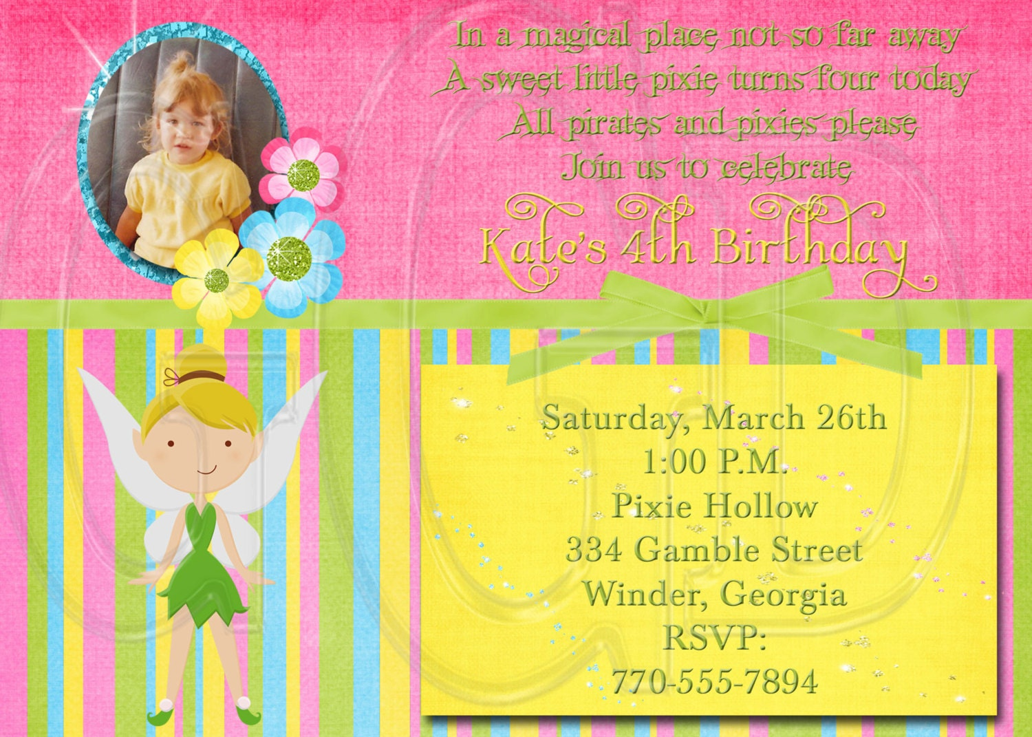 tinkerbell invitation birthday party invitation digital file 128270zoom