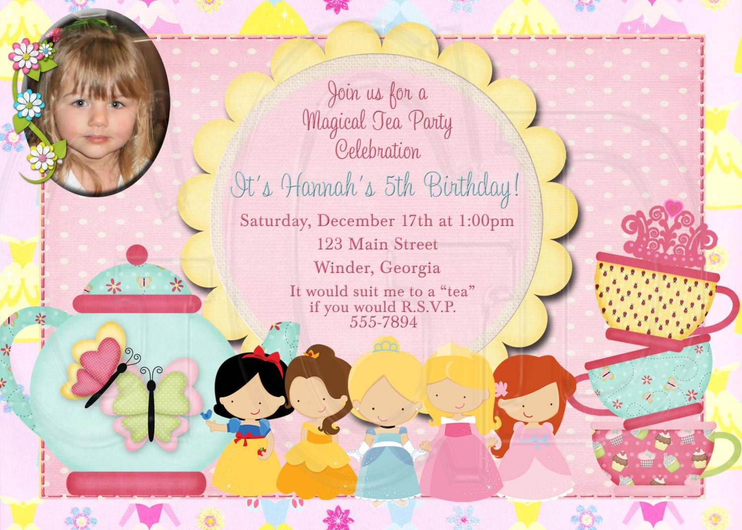 Princess Tea Party Invitations for your inspiration to make invitation template look beautiful