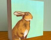 Rabbit Art - Early Afternoon Bunny Art Block 6x6