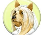 Australian Silky Terrier Magnet - Australian Silky Terrier Bride