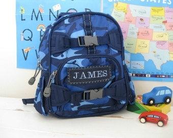 Baby Backpack Pottery Barn (Mini Size) -- Navy Camo