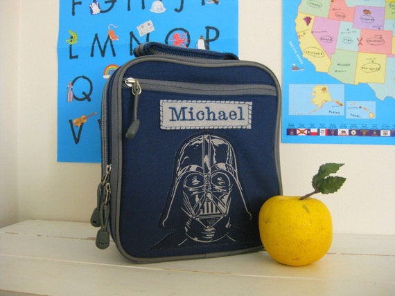 Personalized Kids Lunch Box Pottery Barn Star Wars  -- Darth Vader