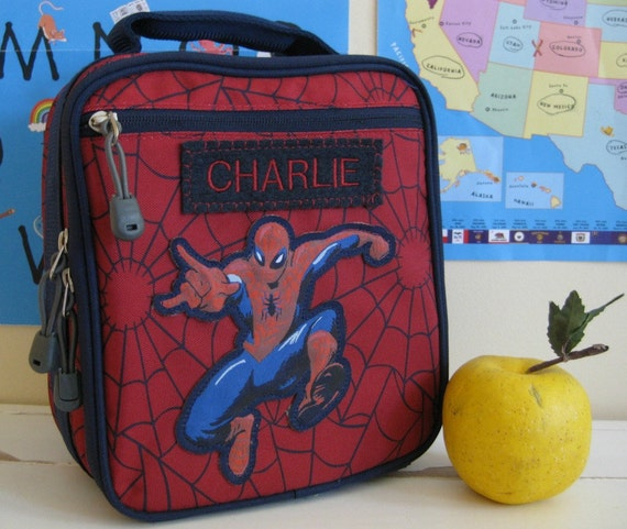 Kids Lunch Box Personalized (Pottery Barn) -- Spider-Man