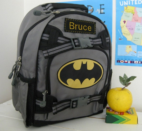 Small Personalized Kids Backpack Pottery Barn (Small Size) -- Batman