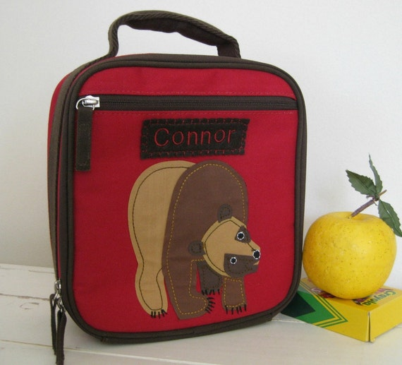 Kids Personalized Lunch Bag -- Pottery Barn Classic Style -- Eric Carle's Brown Bear