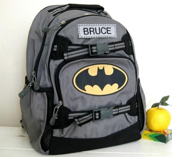 Personalized Kids Backpack Large Size Batman