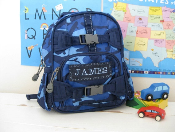 Baby Backpack Pottery Barn (Mini Size) -- Navy Camo